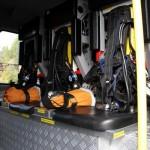 Löschfahrzeug mit Bergeausrüstung und Allradantrieb mit Ausrüstung für drei Atemschutzträger
