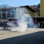 Brandbekämpfung mit HD-Rohr