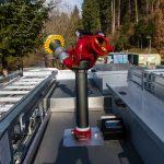 Wasserwerfer mit einer Leistung von 2000l pro Minute