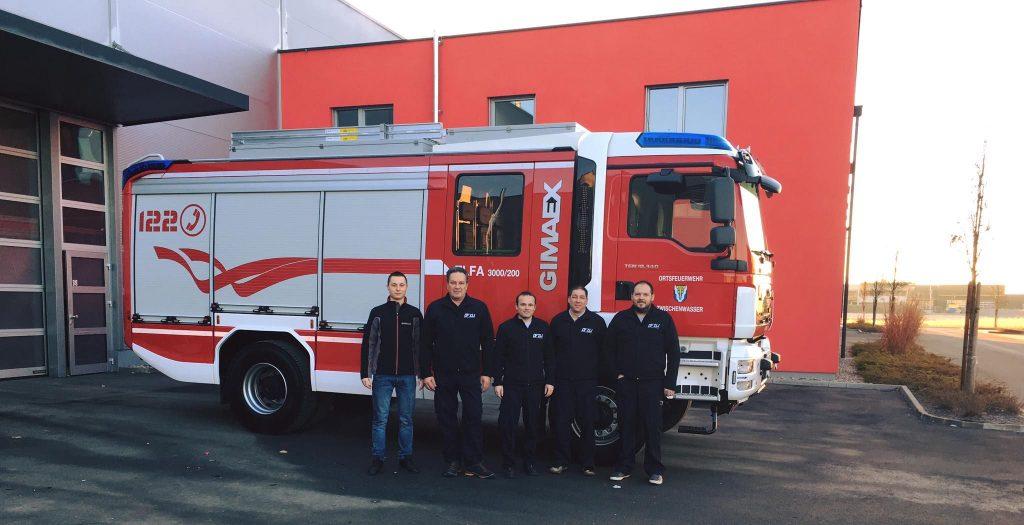 Übergabe TLF-A 3000/200 beim Fahrzeugaufbauer Gimaex in Dobl bei Graz